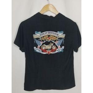 Tori Richard's Harley Davidson Womens Silk Top